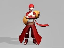 Gaara Naruto Character 3d preview