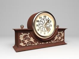 Antique Mantel Clock 3d preview