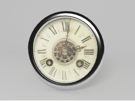 Vintage Style Wall Clock 3d preview