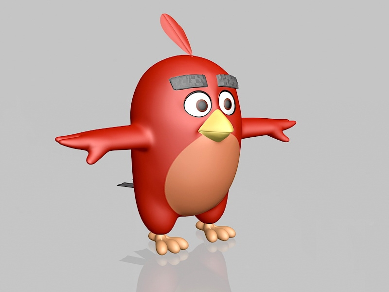 Angry Birds Red 3d rendering