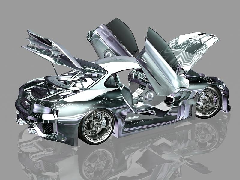 GTA 4 CyborX CD 10.0 XL-GT 3d rendering
