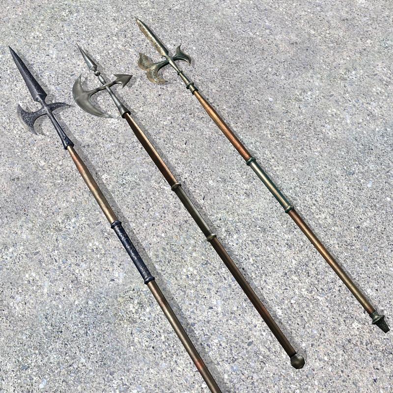Medieval Halberd Weapons 3d rendering