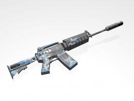 M4A1 Blue Dragon 3d preview