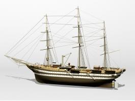 Amerigo Vespucci Tall Ship 3d preview