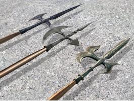 Medieval Halberd Weapons 3d preview