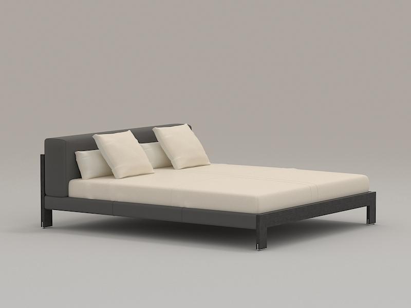 Modern Bed Furniture 3d rendering