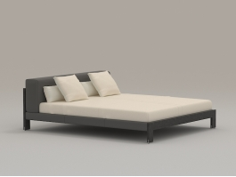 Modern Bed Furniture 3d preview