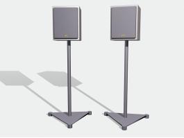 JVC Floor Stand Bookshelf Speakers 3d preview