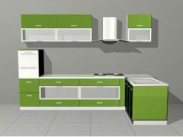 Lime Green Kitchen Ideas 3d preview