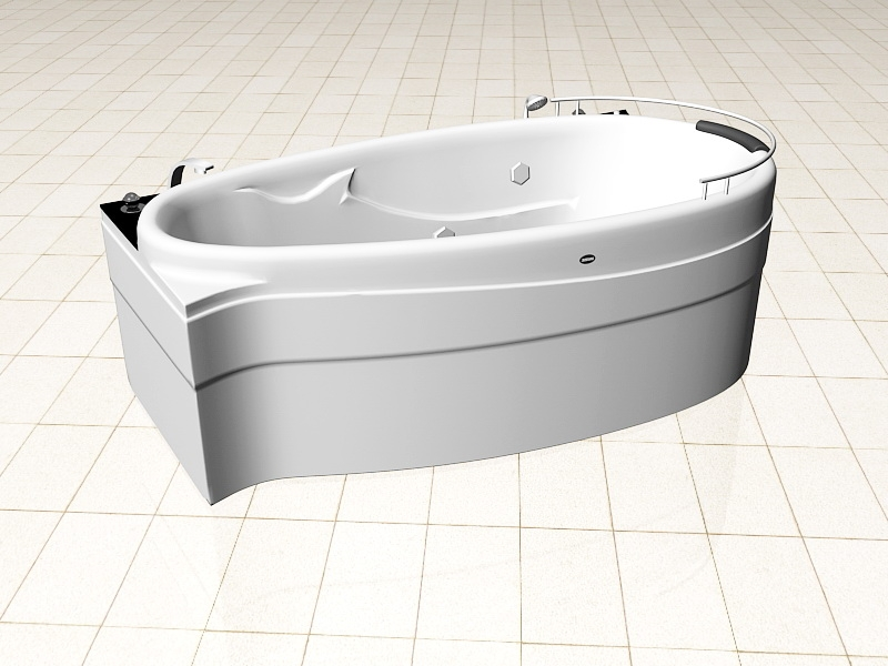 Bathroom Jacuzzi Tub 3d rendering