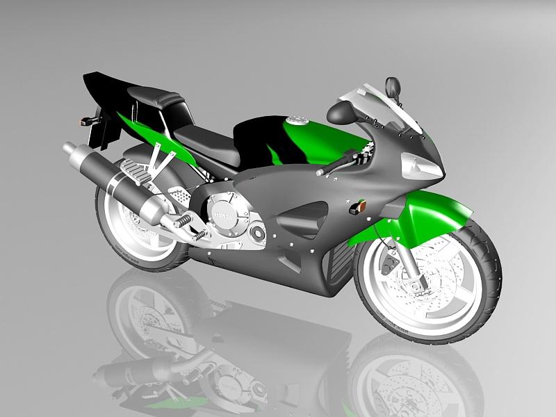 Honda CBR 600 Motorcycle 3d rendering