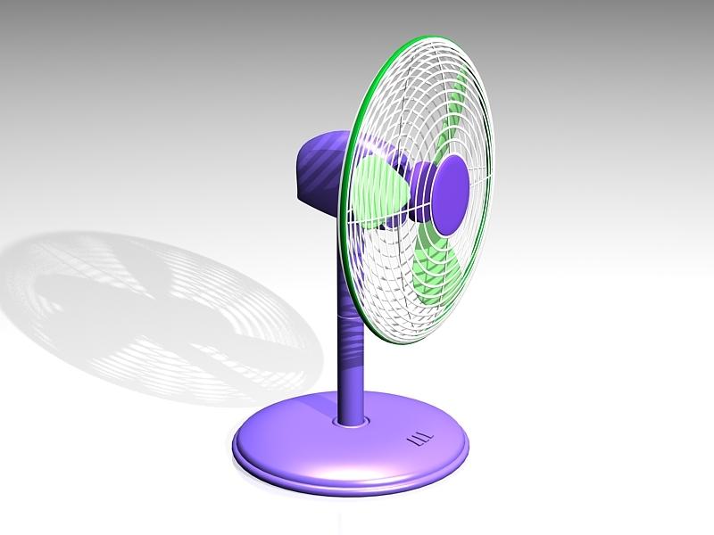 Small Electric Desk Fan 3d rendering