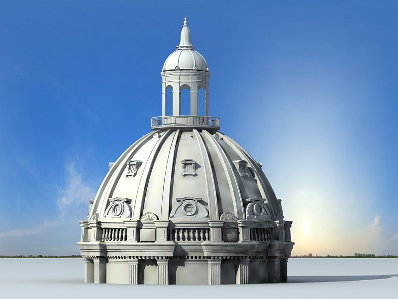 Ancient Rome Dome 3d rendering