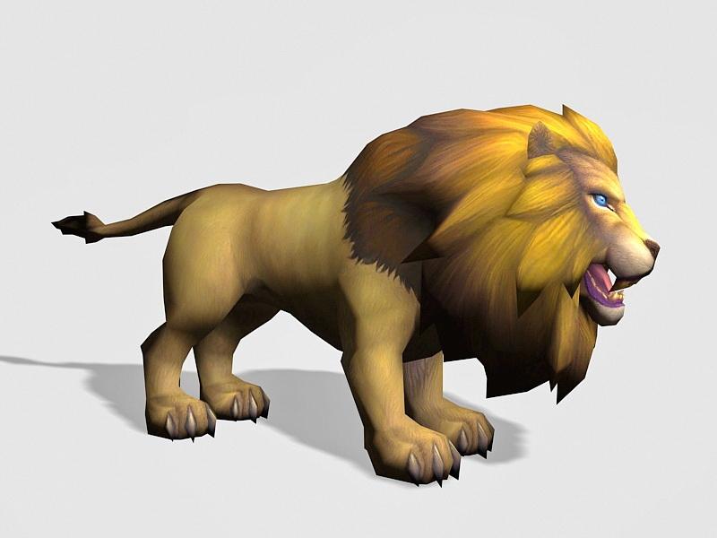 Male Lion 3d rendering