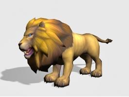 Male Lion 3d preview