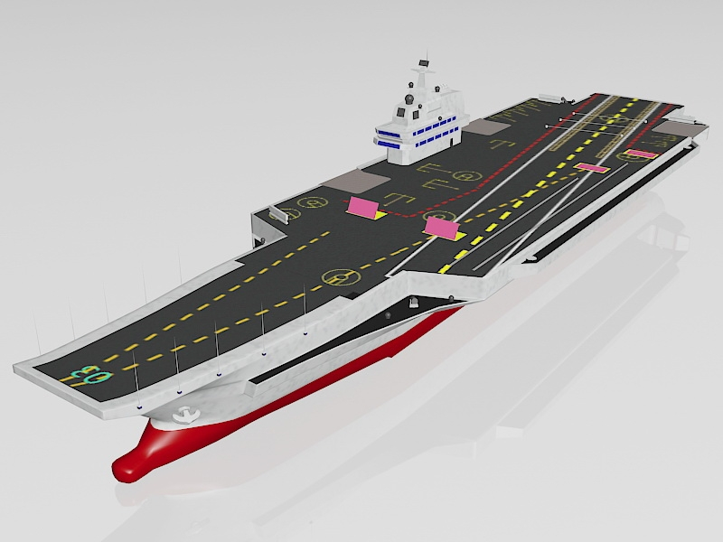 Army Aircraft Carrier 3d rendering