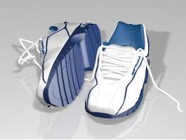 White Reebok Sneakers 3d preview