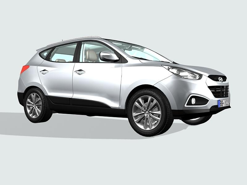 Hyundai ix35 SUV 3d rendering