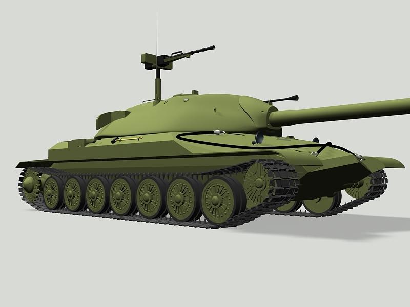 IS-7 Heavy Tank 3d rendering