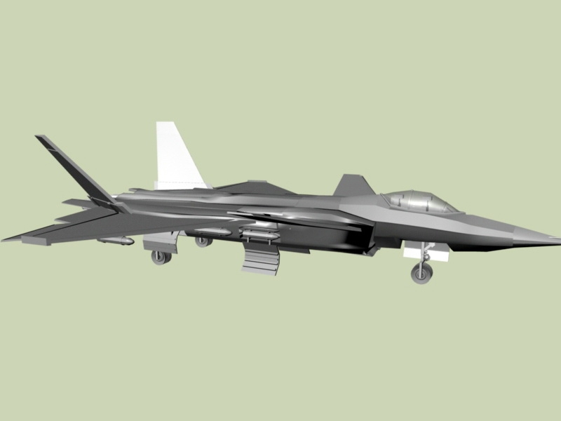 J-20 Chinese Fifth-generation Fighter Aircraft 3d rendering