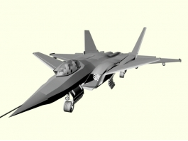 J-20 Chinese Fifth-generation Fighter Aircraft 3d preview