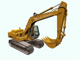 Fiat-Hitachi FH200 Tracked Excavator 3d preview