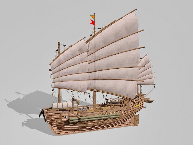 Junk Ship 3d rendering
