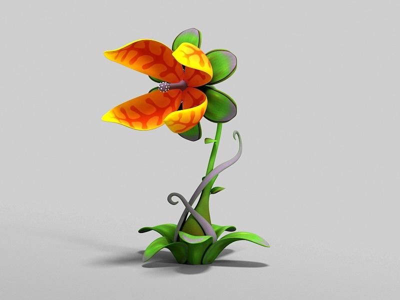 Evil Man-Eating Flower 3d rendering