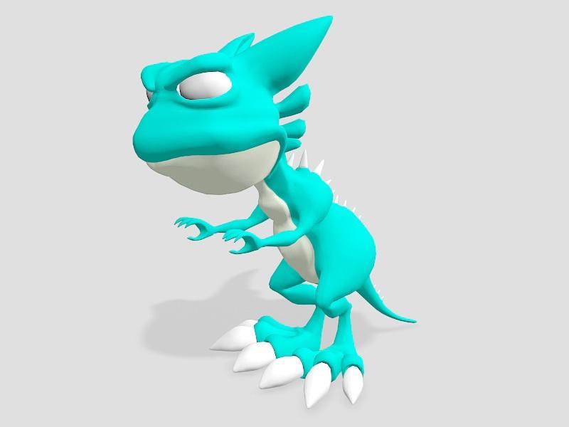 Cartoon Tyrannosaurus Rex 3d rendering
