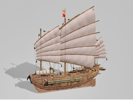 Junk Ship 3d preview