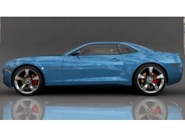 Blue Camaro 3d preview