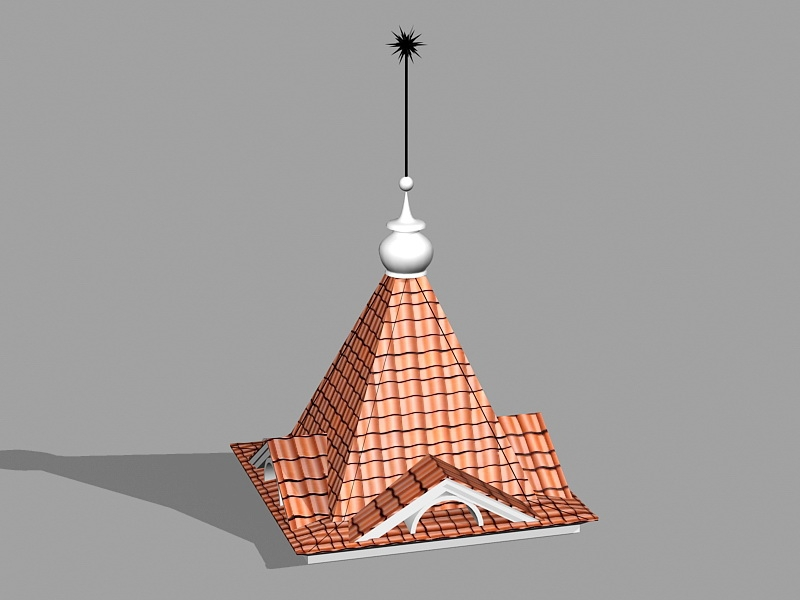 Spire and Roof 3d rendering