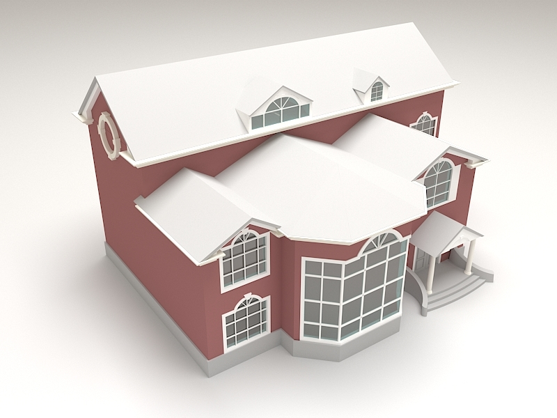 2 Story House Exterior Design 3d rendering