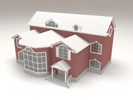 2 Story House Exterior Design 3d preview