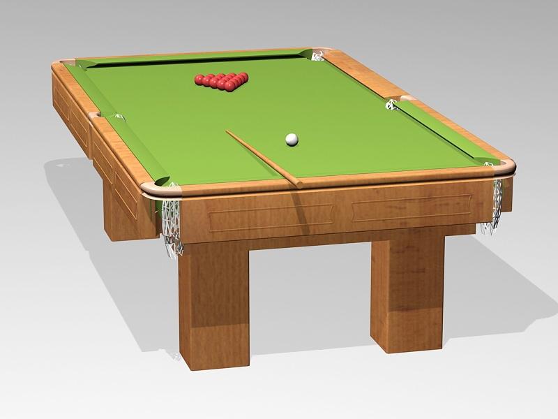 Billiards Pool Table 3d rendering