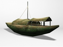 Antique Chinese Boat 3d preview