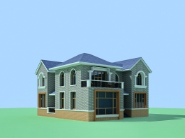 Chinese Village House 3d preview