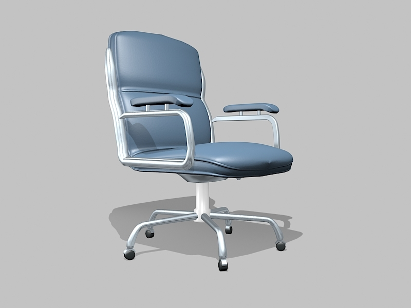 Office Swivel Desk Chair with Arms 3d rendering