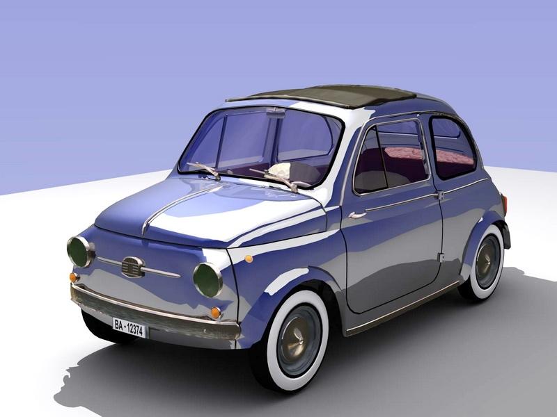 Vintage Car Coupe 3d rendering