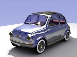 Vintage Car Coupe 3d preview