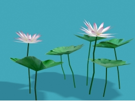 Egyptian Lotus Flowers 3d preview