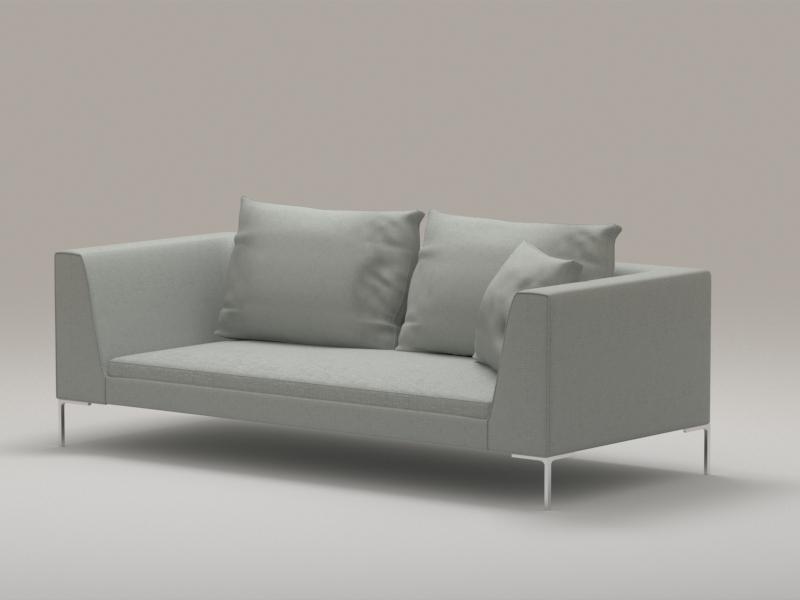 Bench Seat Sofa 3d rendering