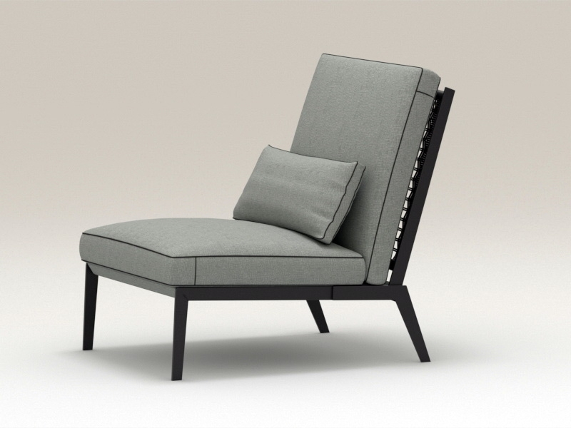 Living Room Accent Chair 3d rendering