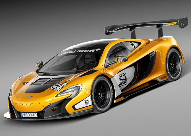 McLaren 650S GT3 Sports Car 3d rendering