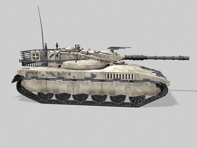 Merkava Main Battle Tank 3d rendering