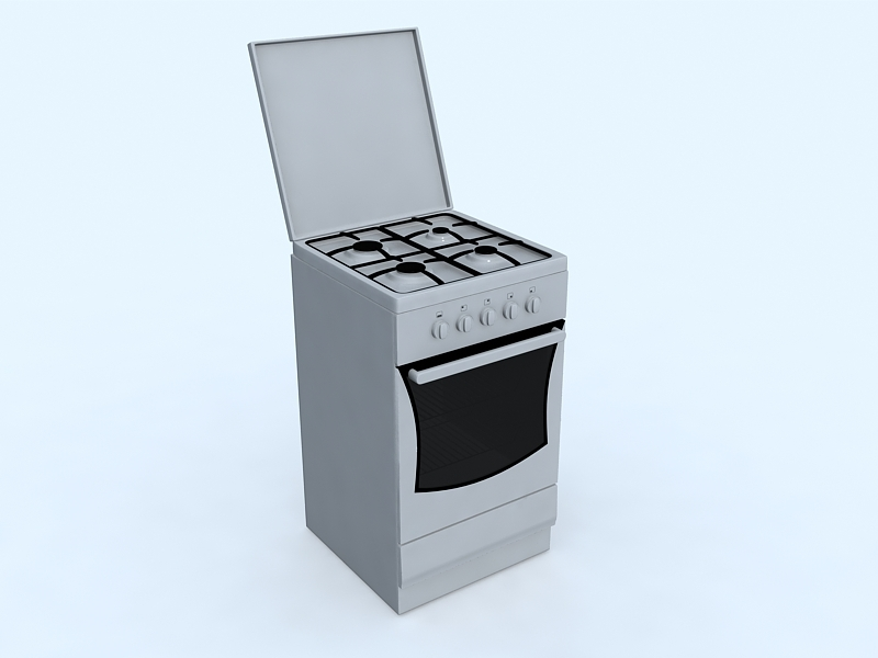 Stove with Oven 3d rendering