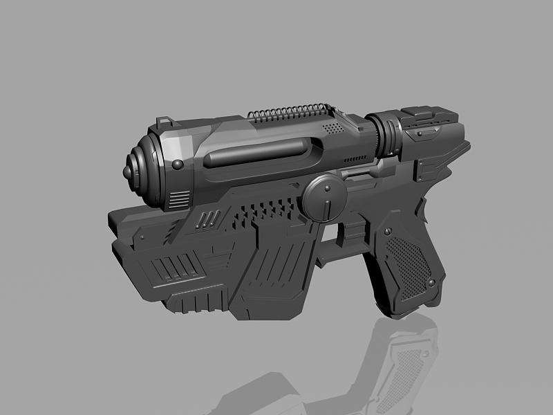 Sci-Fi Pistol Design 3d rendering