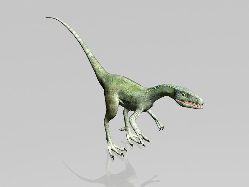 Velociraptor Dinosaur 3d rendering