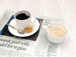 Coffee and News Paper 3d preview