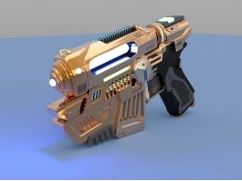Sci-Fi Pistol Design 3d preview